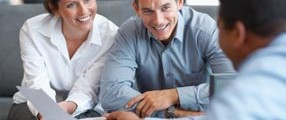 Financial Planning – Couple getting consulted